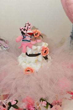 girl baby shower, diaper cake, tutu