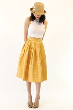 50's Skirt XXS /  1950s Cotton Circle Skirt / by CrushVintage, $54.00