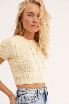 Short + Sweet Crop | Free People Grunge Outfits, Fall Outfits, Casual Outfits, Cute Outfits, Fashion Outfits, Emo Fashion, Beautiful Outfits, Trendy Fashion, Girly Outfits