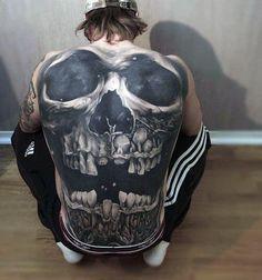 Floral Skull Tattoos, Skull Hand Tattoo, Skull Tattoo Design, Tattoo Designs Men, Chest Tattoo Skull, Badass Tattoos, Body Tattoos, Hand Tattoos, Sleeve Tattoos