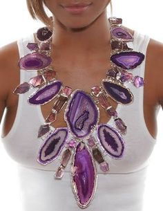 By far Charles Albert Jewelry is one of the most unique collections I have seen in a long time. Each handcrafted piece is made with unique stones like citrine, amethyst, quartz, and crystal. The necklaces and pendants command attention, so shy women steer clear. These jewels are definitely conversation pieces.