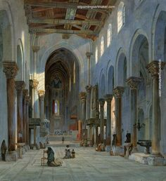Carl Friedrich Heinrich Werner The Cathedral of Cefalú, Interior, painting Authorized official website