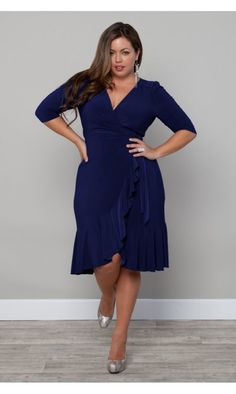 www.curvaliciousclothes.com This dress style is one of the most flattering for almost any figure.