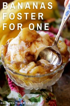 Bananas Foster is a decadent rum-laced dessert made with sliced bananas, brown sugar, and butter. This famous New Orleans dessert is typically served over ice cream and tastes absolutely amazing! This single serving Bananas Foster recipe includes a step-by-step guide with a perfect flambé and also without the flame.