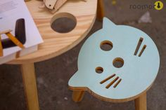 roomor! #Maszyna Kreacji, kids deco, cat stool,