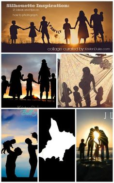 21 Family Silhouette Inspiration, with tips on how to shoot a great silhouette