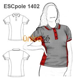 POLERA ESCOLAR MUJER Camisa Polo, Fashion Flats, Fashion Dresses, Polo Shirt Design, Flat Sketches, T Shorts, Kids Fashion, Womens Fashion, Custom Clothes