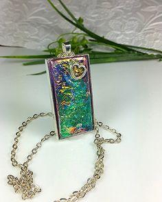 Faux Carnival Glass Necklace Fantasy Film by tstreasuresjewelry