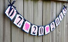 Save The Date Banner can customize colors by TaraAlexanderDesigns, $29.00