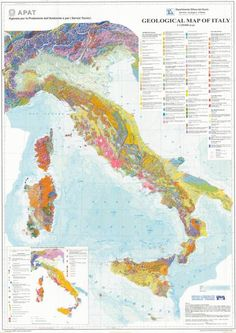 The new Geological Map of Italy, 1 at 1,250,000