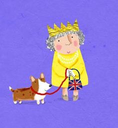 The Queen and her Corgi