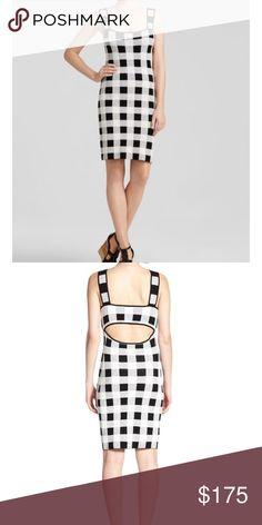 NWT theory sharneel dress black and white Plaid Size medium Theory Dresses