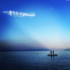 Lake life #Suisse #Switzerland #lake #leman #Gland #sky