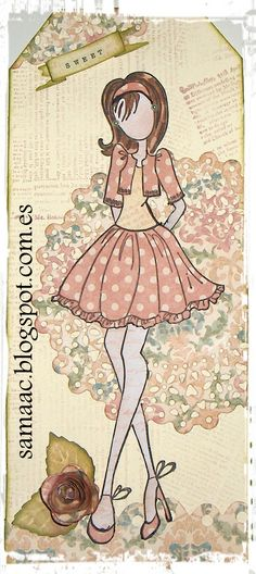 Prima doll tags. Tutorial: http://samaac.blogspot.com.es/2013/07/tutorial-prima-doll-tag_10.html