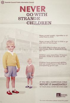 Scarfolk Council -- Never go with strange children...  I'm going to take this one to heart.