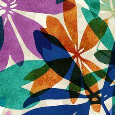 detail view of Jungle // Allison Holdridge via Bright Bazaar Store #tropical #floral #bright #print