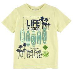 3 Pommes - Tee-shirt en jersey de coton - Jaune clair - 104335