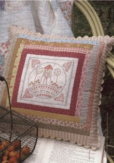 Home for Summer Cushion   Hatched and Patched
