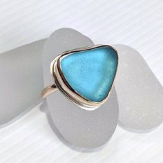 Genuine sea glass - shaped by the sea heart. Real Gold Jewelry, Gold Filled Jewelry, Unique Jewelry, Sea Glass Ring, Sea Glass Jewelry, Cape May Diamonds, Timeless Beauty, Handmade Necklaces, Precious Metals