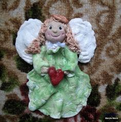 Moje rękodzieło : aniołek z masy solnej / My craft : angel of salt mass