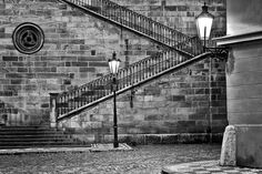 Kampa island and stairways up to the Charles Bridge.  This is where Prague Behind The Scenes tour will take you to.  www.praguebehindthescenes.com
