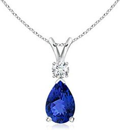Shop a great selection of ANGARA Pear Blue Sapphire Teardrop Pendant Necklace Women Diamond White Gold Blue Sapphire). Find new offer and Similar products for ANGARA Pear Blue Sapphire Teardrop Pendant Necklace Women Diamond White Gold Blue Sapphire). Pearl Pendant, Pendant Necklace, Moissanite Bridal Sets, Sapphire Diamond Engagement, Sapphire Jewelry, Diamond Studs, Wedding Ring Bands, White Gold Diamonds, Women Jewelry