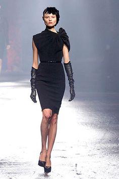 Vintage 1940's Black dress (Lanvin)