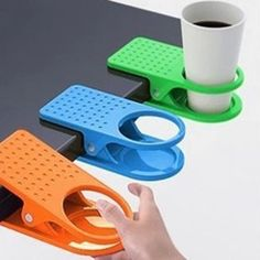 Those look perfect, like they where made for my office desk. | Big Deskside Cup Clip Mug Holder House Using Table Tableware