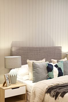 Clarendon Homes.  Terracedale 28.  VJ walling in secondary bedroom as a feature wall.