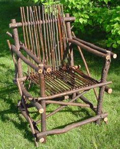 diy willow chair @Sandra Pendle Pendle Vanderbeck Heyrich Futch  if you stick them in the grond will they grow?