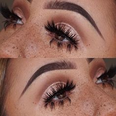 MOTD Ft. Faux Freckers @maccosmetics 'soft brown & saddle' in the crease 'tan' pigment & 'in orbit' on the lid, freckles are 'saddle, soft brown, cork' use a disposable mascara wand, crush up some of the shadow, then load it on the mascara wand, spray w/fix + & flick, flick, flick where you desire your freckiessss