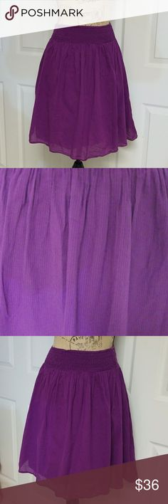 Club Monaco Cotton Skirt Purple dress in excellent condition   Skirt has a lot stretch   Length is 19.5 inches Club Monaco Skirts