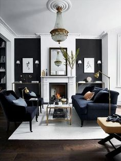 Fabulous Gorgeous Black Living Room Ideas With Gorgeous Black Living Room Ideas. Trendy Gorgeous Black Living Room Ideas With Gorgeous Black Living Room Ideas. Fabulous Gorgeous Black Living Room Ideas With Gorgeous Black Small Living Room Furniture, Living Room Grey, Living Room Sets, Living Room Modern, Interior Design Living Room, Home And Living, Cozy Living, Grey Room, Black And White Living Room Decor
