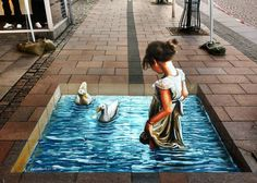 Sara Acrylic on pavement  2. International Street Art Festival. Brande Denmark  #carlosalberto_gh