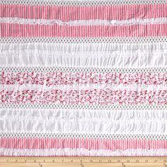 Pintuck Ruffled Eyelet Pink $10
