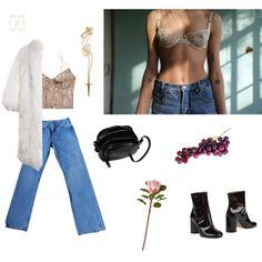 A fashion look from June 2016 by louisesuxx featuring Kiki de Montparnasse, Levi's, Maison Margiela, The Row, Pamela Love, River Island and CB2