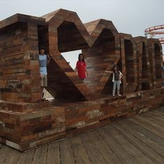 We're on site with @ToyotaUSA at the #SantaMonica Pier. We love our dad too. Isn't he the greatest! Stop by before June 23rd to see their awesome #I❤️Dad monument for #FathersDay. Take a selfie in front of it! #OneBoldChoice