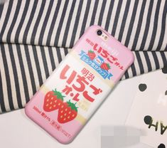 Lovely Japanese strawberry Case Cover for Apple iPhone 6 6S 6 Plus 6S Plus DC0823-001