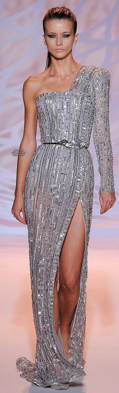 Fall 2014 Couture Zuhair Murad, amazing dress, runway, sequence, sequence dress, womens fashion, prom looks, gala dress