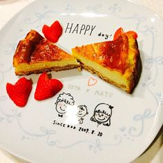 お皿も手作りで♡ - 23件のもぐもぐ - バレンタイン チーズケーキ by mayukato