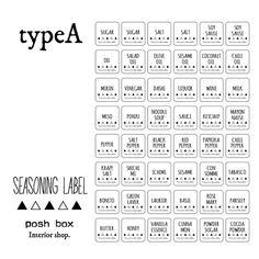 【☆送料無料☆】調味料ラベル:typeA、ラベルシール、ラベルステッカー 手書き風