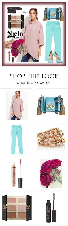 """""""Today is my day"""" by anelia-georgieva ❤ liked on Polyvore featuring Dsquared2, J Brand, SPINELLI KILCOLLIN, Charlotte Russe, tarte, Manna Kadar Cosmetics and Casadei"""