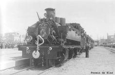 Llegada del tren a la estación de Arnedo.(Foto Fermín de Blas)