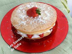 """Gateau savoie aux fraises  Recette sur Facebook  """"Les Saveurs de Safia"""""""