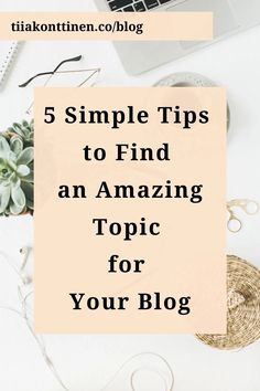 """If you have ever struggled with blogging, you're not alone. Even the technical part of setting up a blog is nothing compared to the question """"what should I write about?"""". I am here to help! Visit my blog, and read my best tips on blogging and how to find an amazing topic for your blog: www.tiiakonttinen.co #blogtopics #blogging #howtostartablog Blog Writing Tips, Writing Topics, How To Create A Successful Blog, How To Start A Blog, Make Money Blogging, How To Make Money, Writing Challenge, Blog Names, Blog Topics"""
