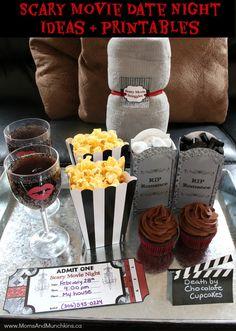 Scary Movie Date Night Idea + Date Night Printables