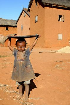 A little girl in Madagascar