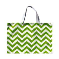 "Green Chevron Tote Bag, Green Shoulder Bag, Green Beach Bag, Green Chevron Tote, Green Chevron Bag- 17"" x 13"". $18.00, via Etsy."