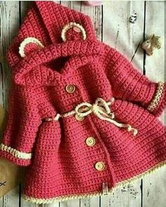 Crochet Baby Sweater Girl Toddlers 38 New Ideas Crochet Baby Sweaters, Crochet Baby Cardigan, Crochet Baby Clothes, Crochet Jacket, Newborn Crochet, Knit Crochet, Crochet Toddler, Crochet Girls, Crochet For Kids