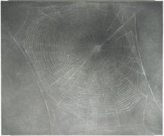 "Vija Celmins. Web #3. 2000-02. Oil on linen. 15 x 18"" (38.1 x 45.7 cm). Gift of Edward R. Broida. 686.2005. © 2017 Vija Celmins. Painting and Sculpture"